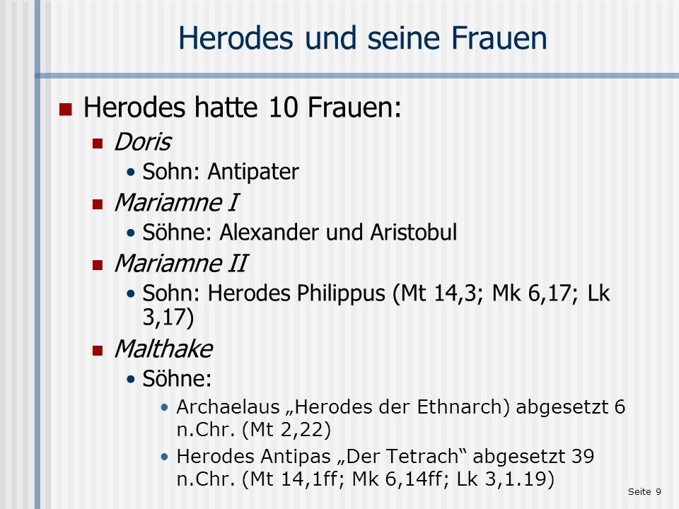 Herodes und seine Frauen
