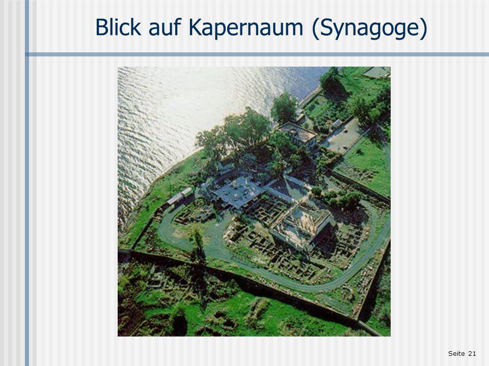 Blick auf Kapernaum (Synagoge)