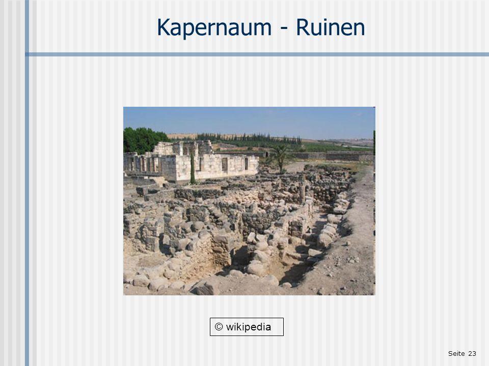 Kapernaum - Ruinen © wikipedia