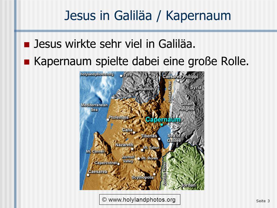 Jesus in Galiläa / Kapernaum
