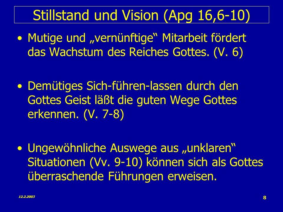 Stillstand und Vision (Apg 16,6-10)
