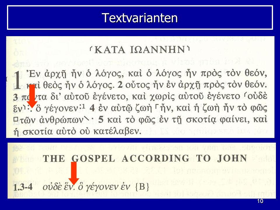 Textvarianten