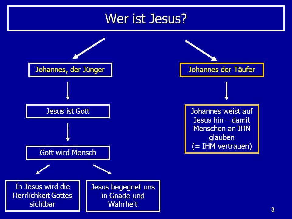 Wer ist Jesus Johannes, der Jünger Johannes der Täufer Jesus ist Gott