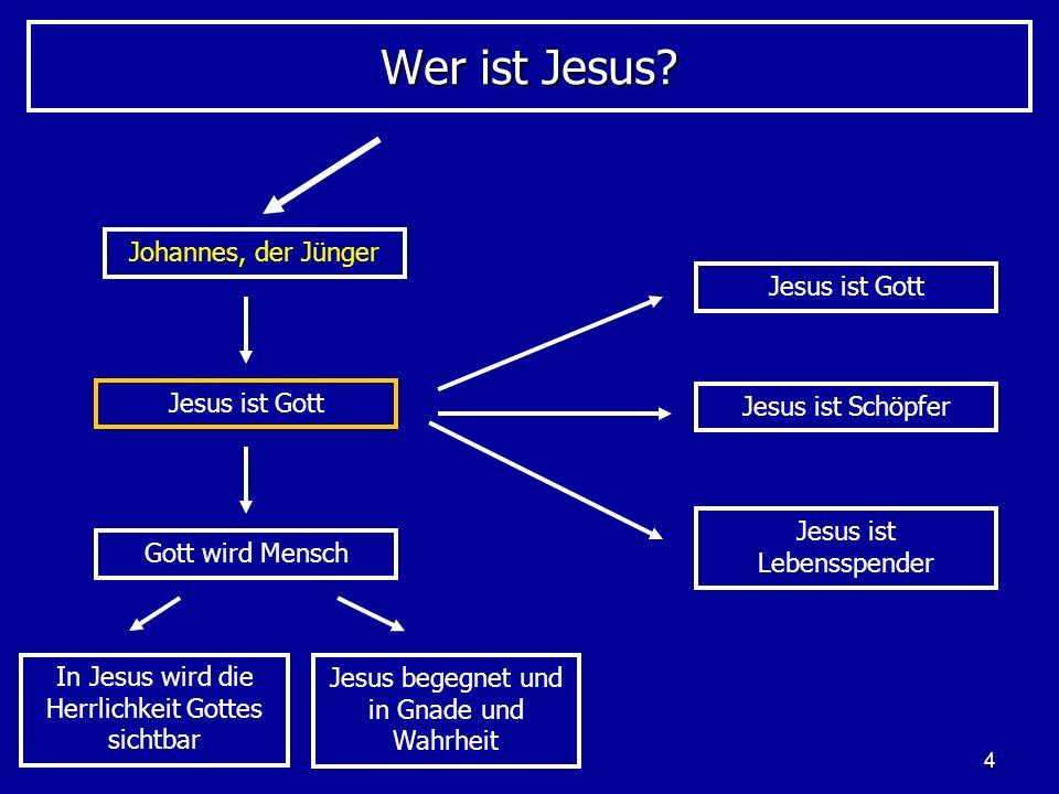 Wer ist Jesus Johannes, der Jünger Jesus ist Gott Jesus ist Gott