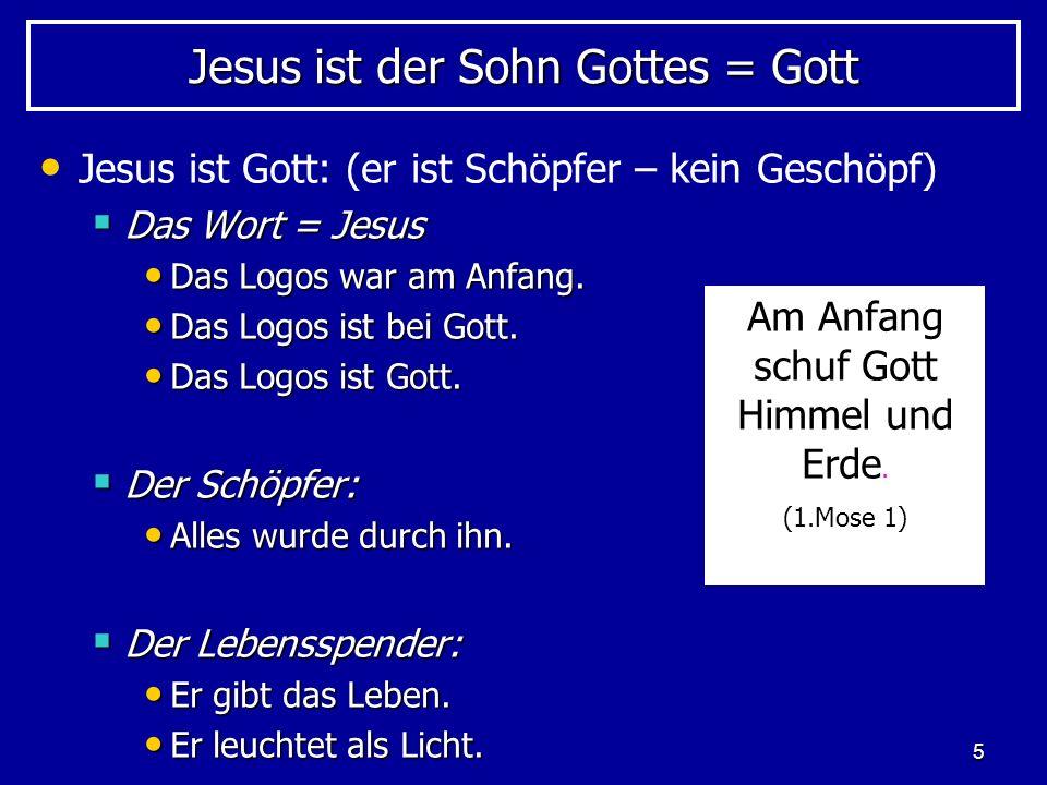 Jesus ist der Sohn Gottes = Gott