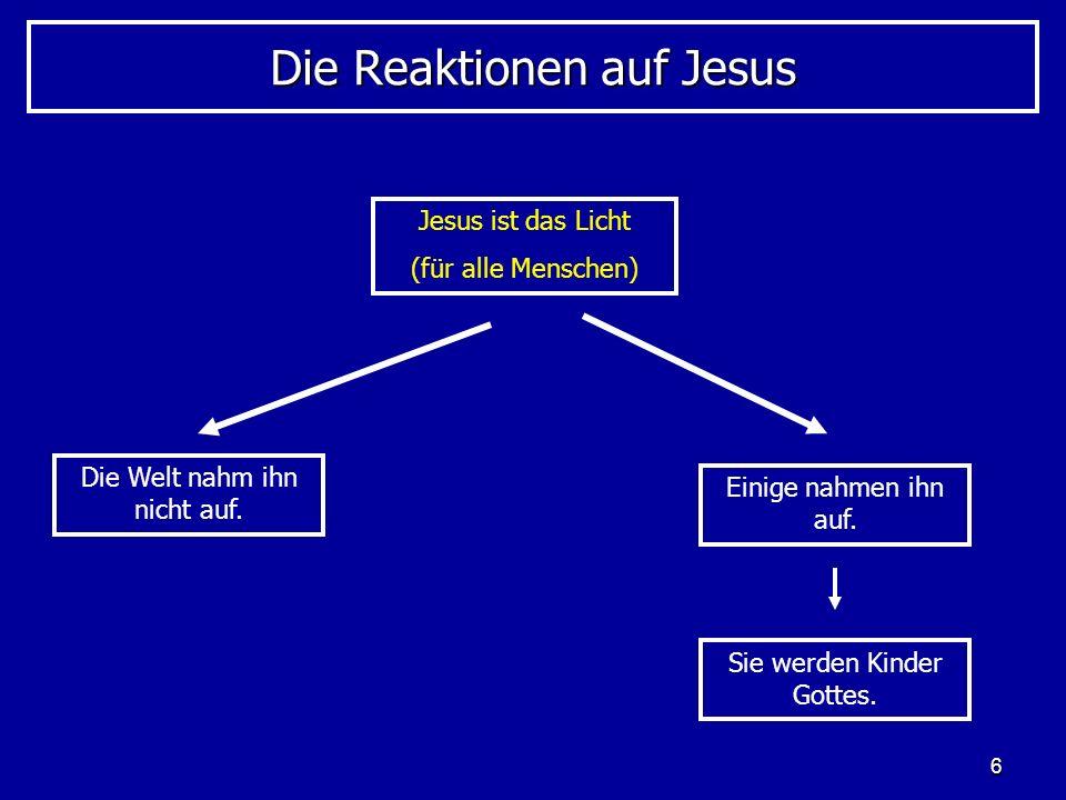 Die Reaktionen auf Jesus