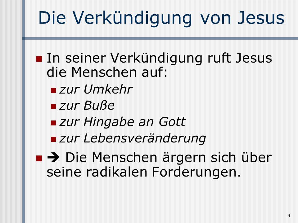 Die Verkündigung von Jesus