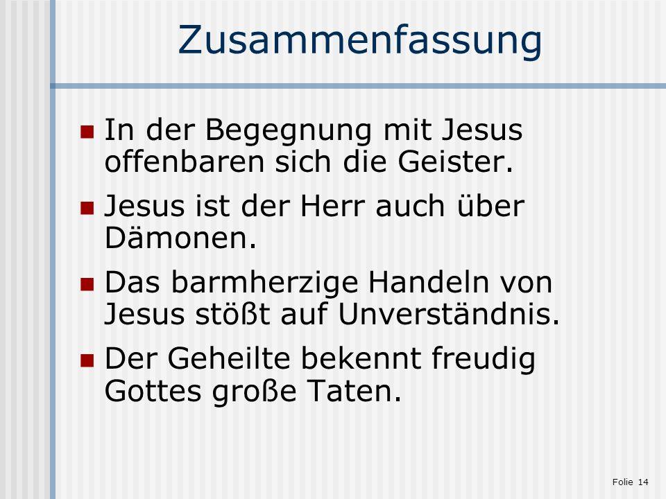 Markus-Evangelium: 5,1-20 - Jesus vertreibt unreine Geister