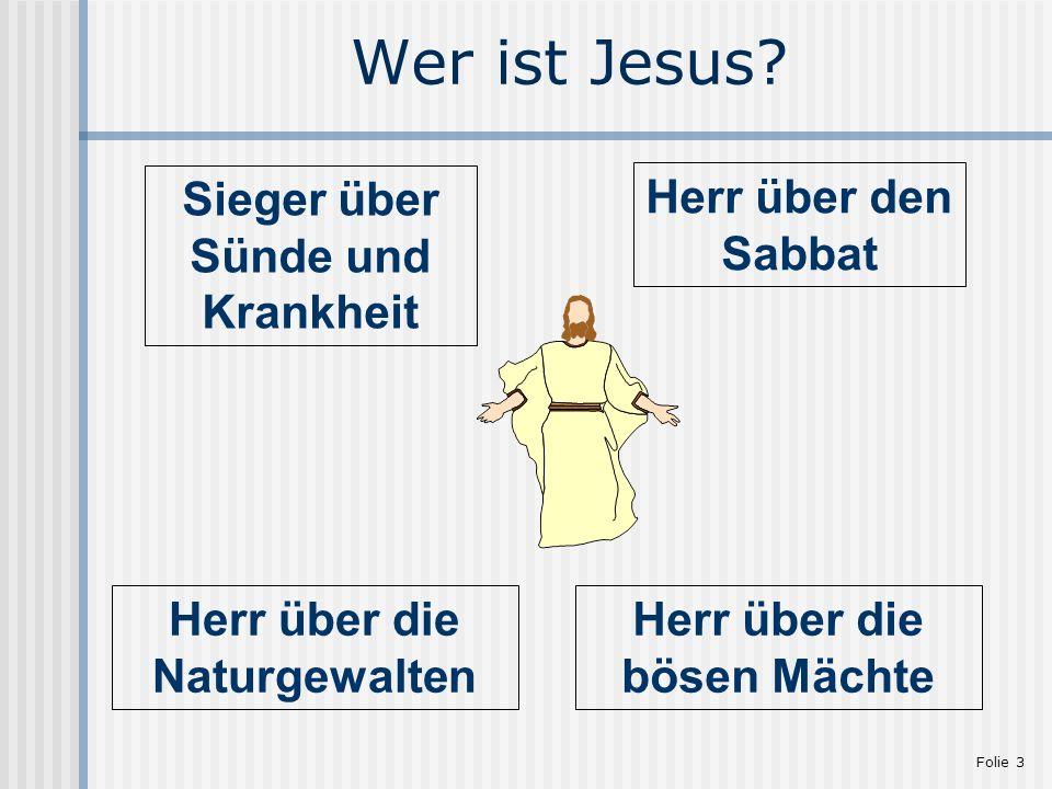 Wer ist Jesus Sieger über Sünde und Krankheit Herr über den Sabbat