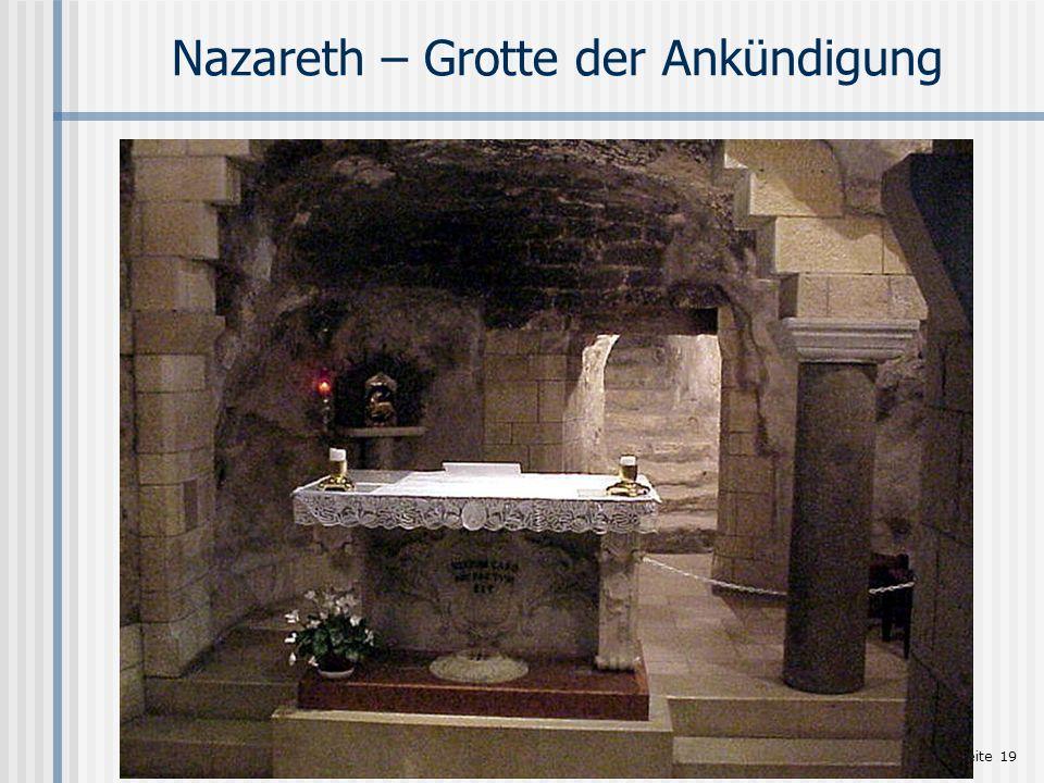 Nazareth – Grotte der Ankündigung