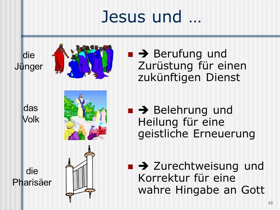 Jesus und …  Berufung und Zurüstung für einen zukünftigen Dienst