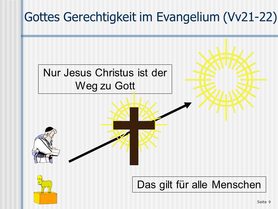 Gottes Gerechtigkeit im Evangelium (Vv21-22)