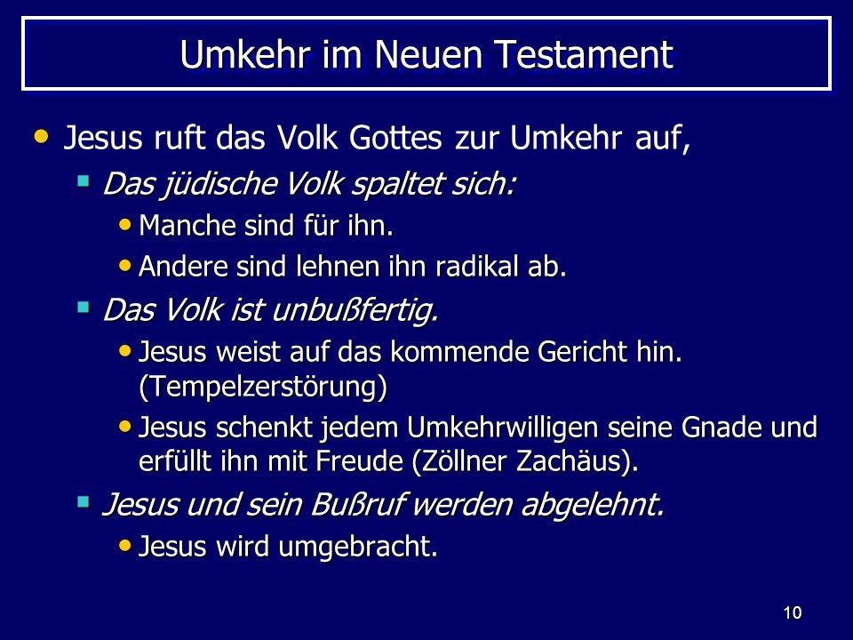 Umkehr im Neuen Testament