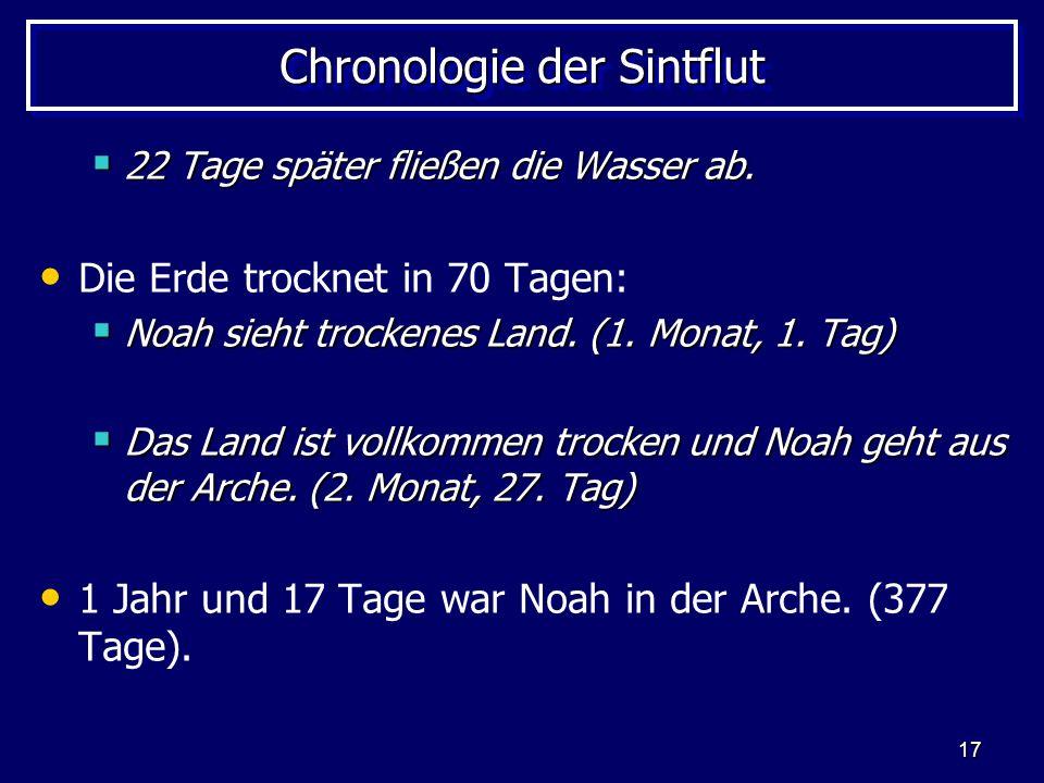 Chronologie der Sintflut