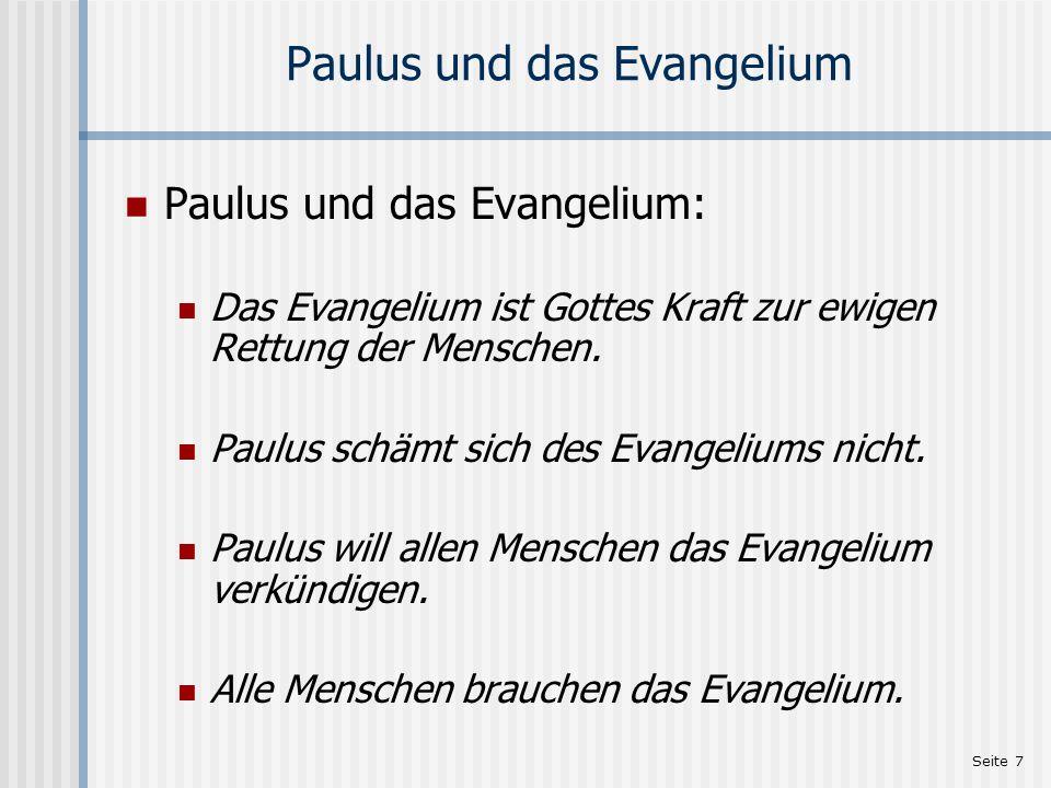 Paulus und das Evangelium