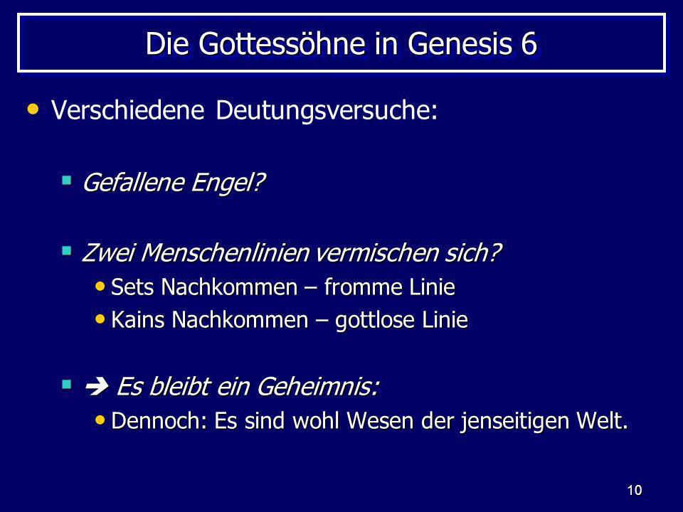 Die Gottessöhne in Genesis 6