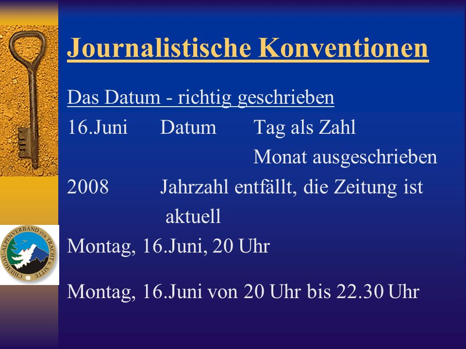 Journalistische Konventionen