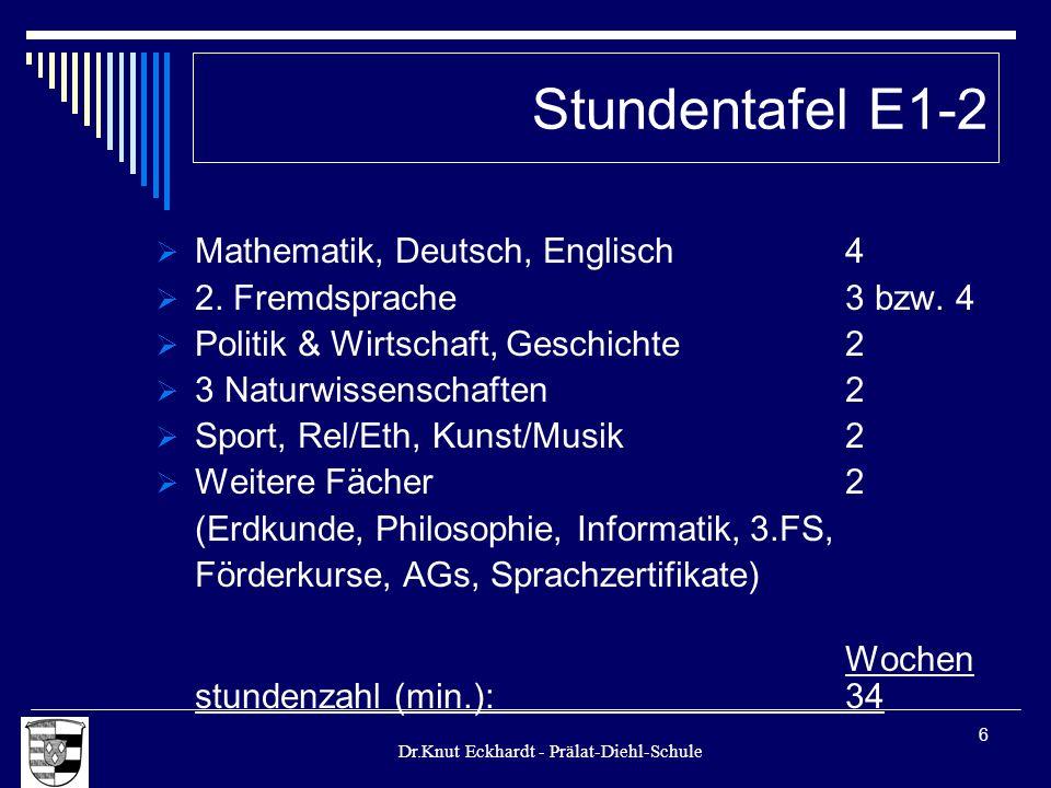 Stundentafel E1-2 Mathematik, Deutsch, Englisch 4