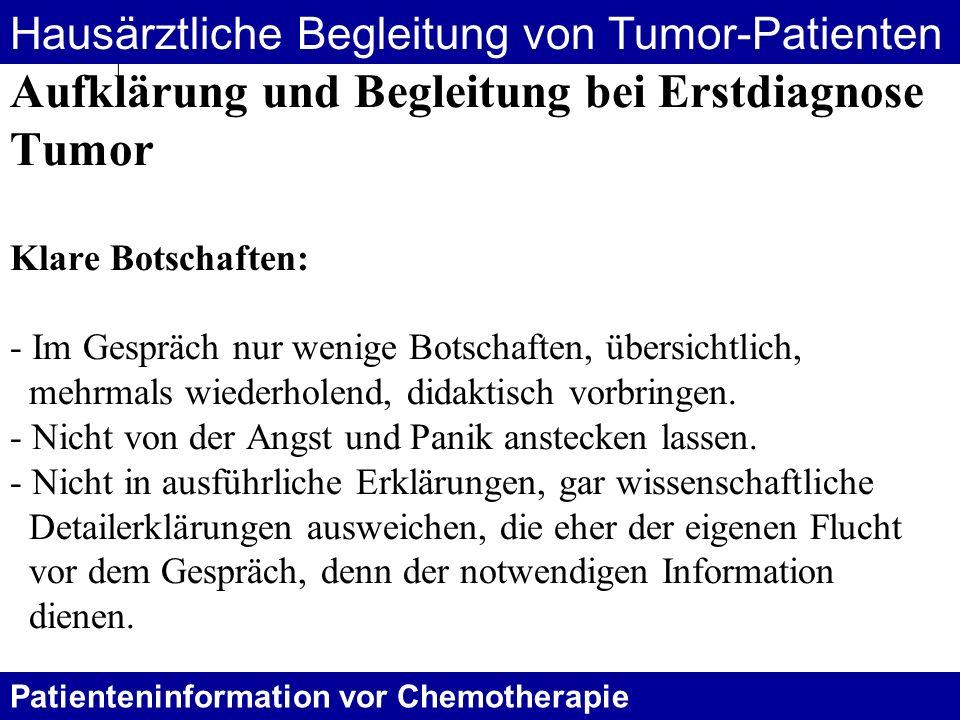 Hausärztliche Begleitung von Tumor-Patienten