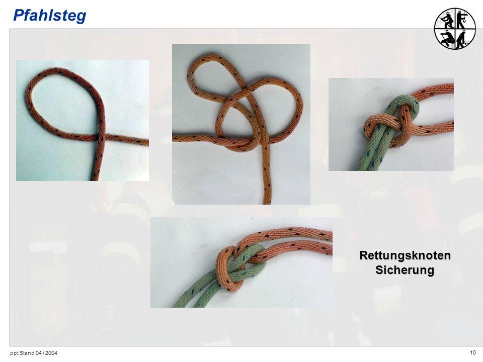 Pfahlsteg Rettungsknoten Sicherung ppt Stand 04 / 2004