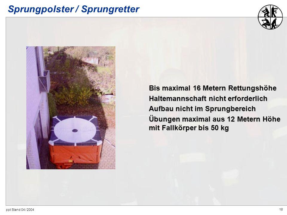 Sprungpolster / Sprungretter
