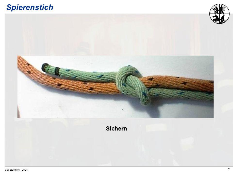 Spierenstich Sichern ppt Stand 04 / 2004