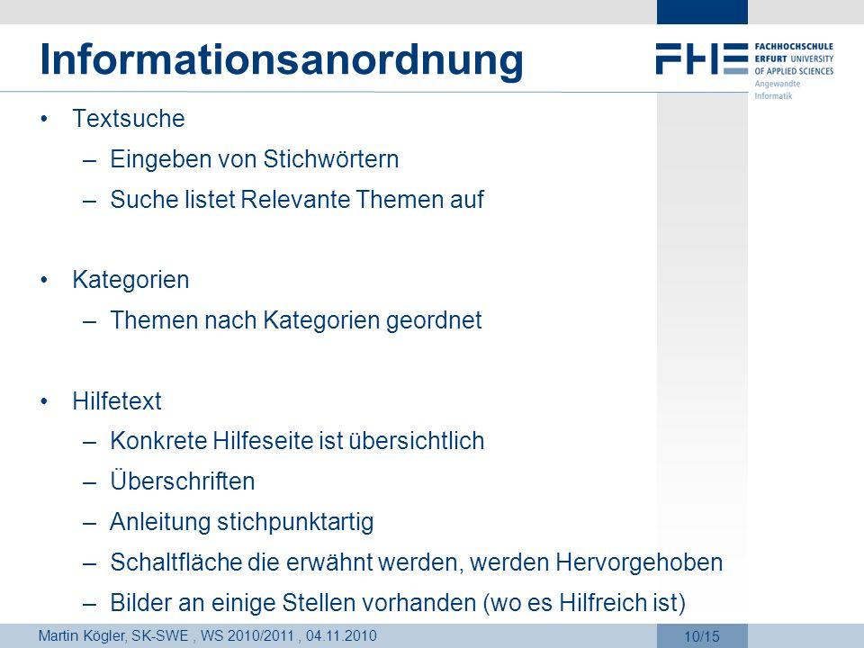 Informationsanordnung