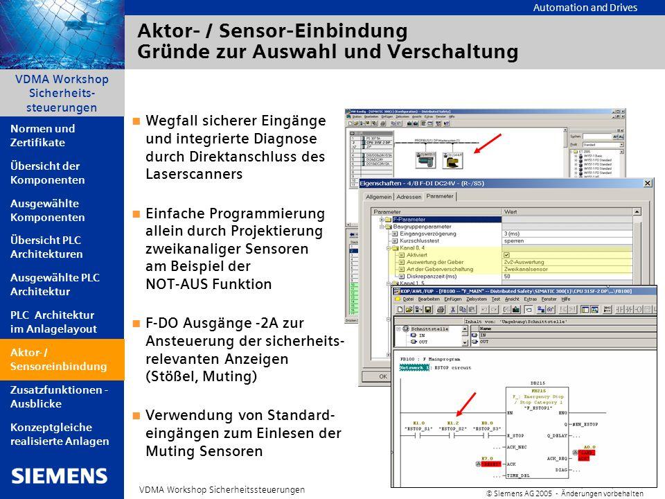 Aktor- / Sensor-Einbindung Gründe zur Auswahl und Verschaltung