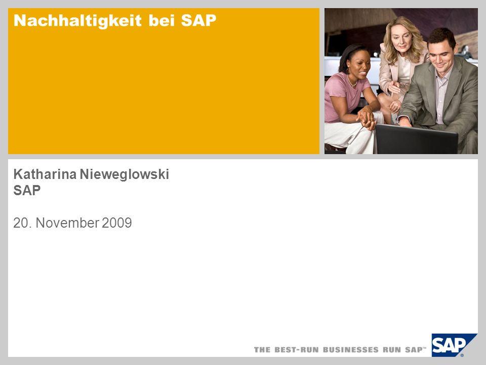 Nachhaltigkeit bei SAP