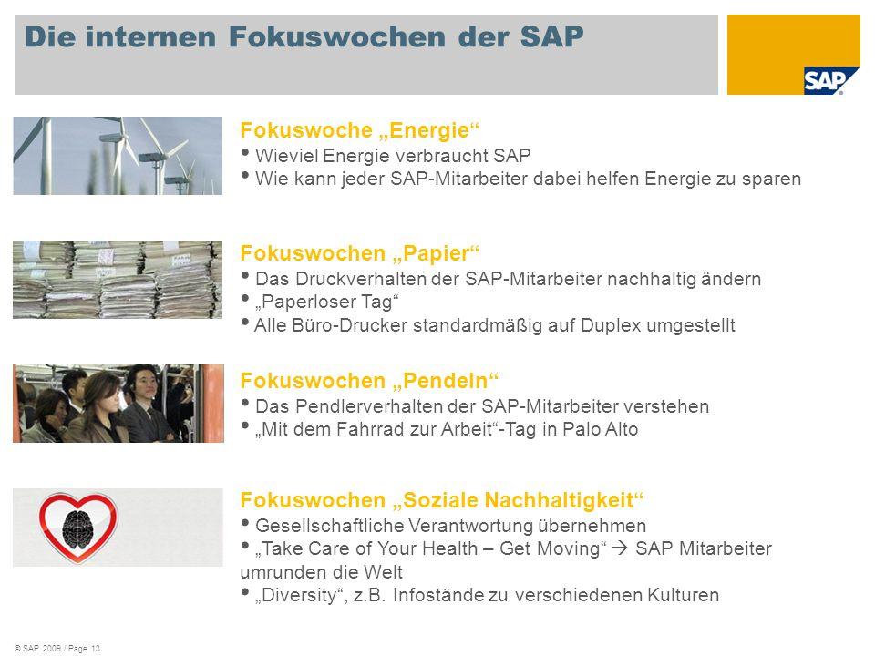 Die internen Fokuswochen der SAP