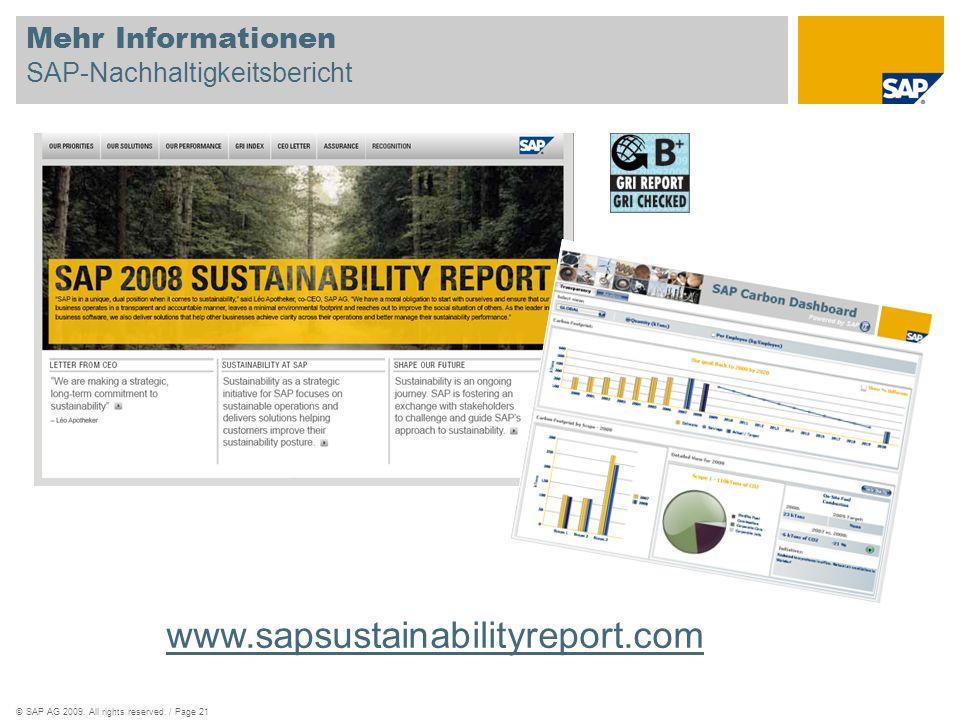 Mehr Informationen SAP-Nachhaltigkeitsbericht
