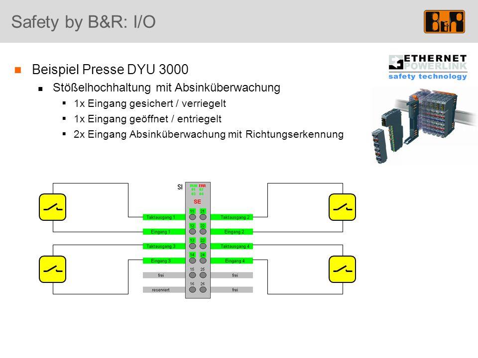 Safety by B&R: I/O Beispiel Presse DYU 3000