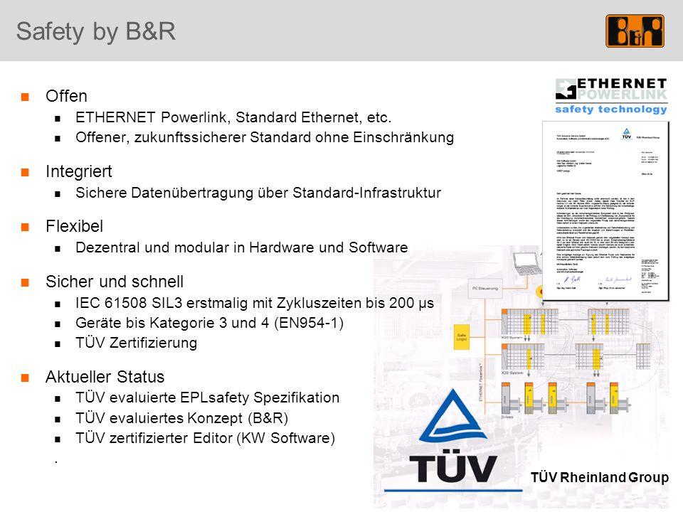 Safety by B&R Offen Integriert Flexibel Sicher und schnell