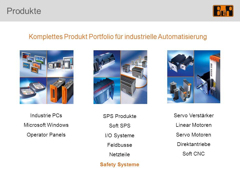 Komplettes Produkt Portfolio für industrielle Automatisierung