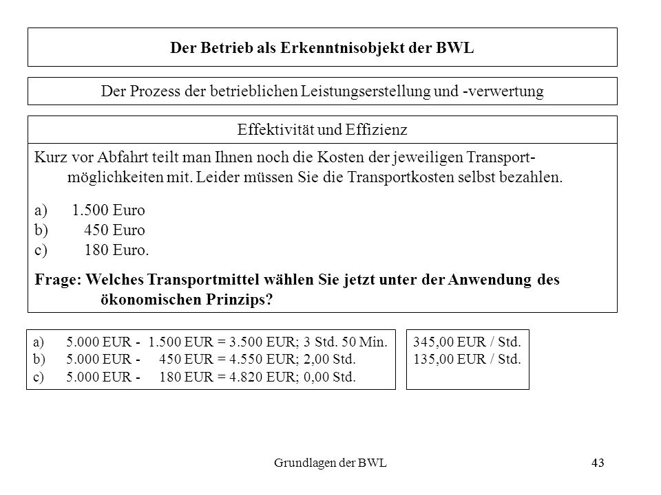 Der Betrieb als Erkenntnisobjekt der BWL
