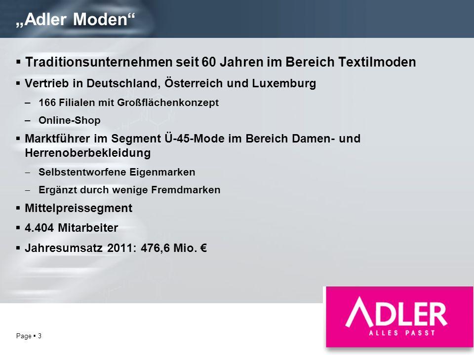 """""""Adler Moden Traditionsunternehmen seit 60 Jahren im Bereich Textilmoden. Vertrieb in Deutschland, Österreich und Luxemburg."""