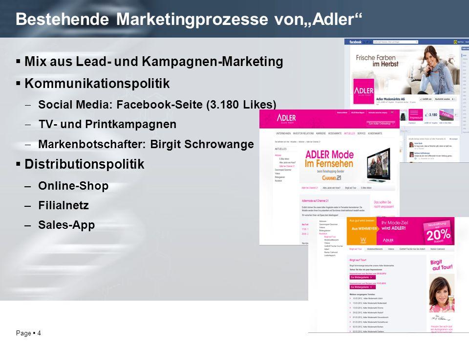 """Bestehende Marketingprozesse von""""Adler"""