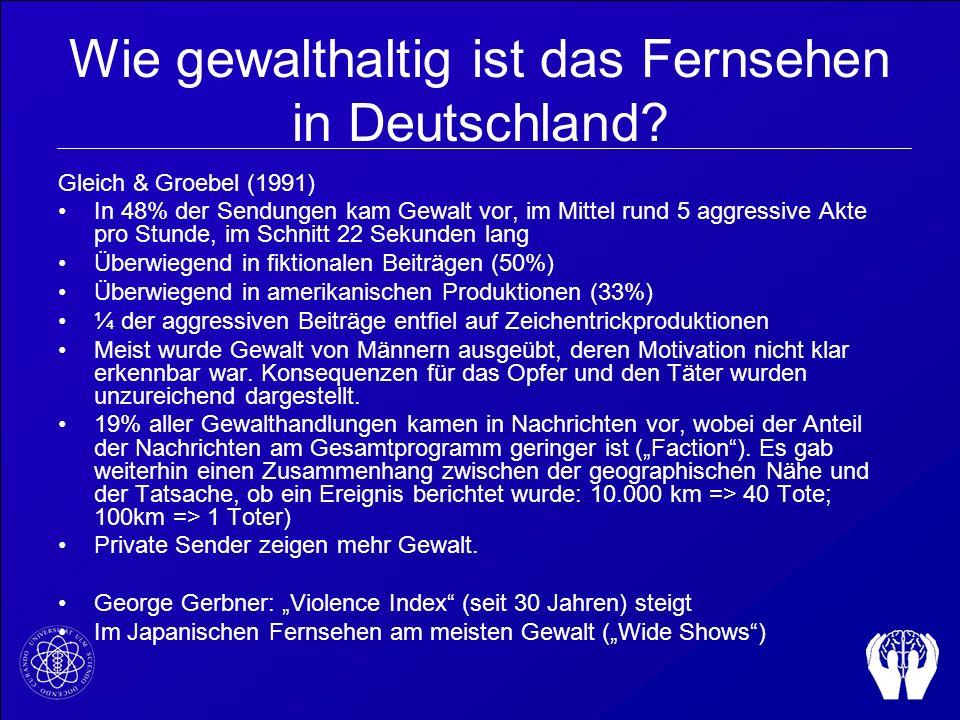 Wie gewalthaltig ist das Fernsehen in Deutschland