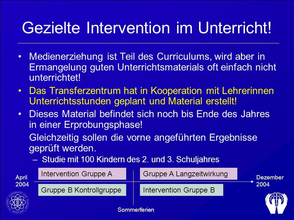 Gezielte Intervention im Unterricht!