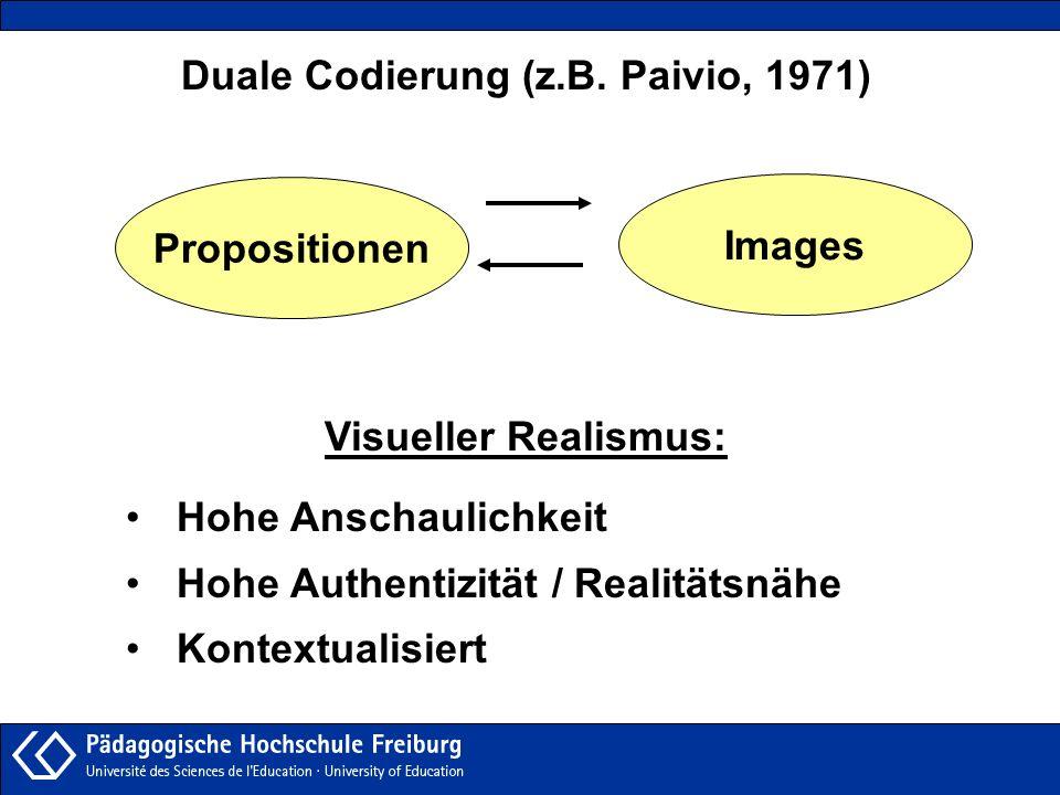Duale Codierung (z.B. Paivio, 1971)