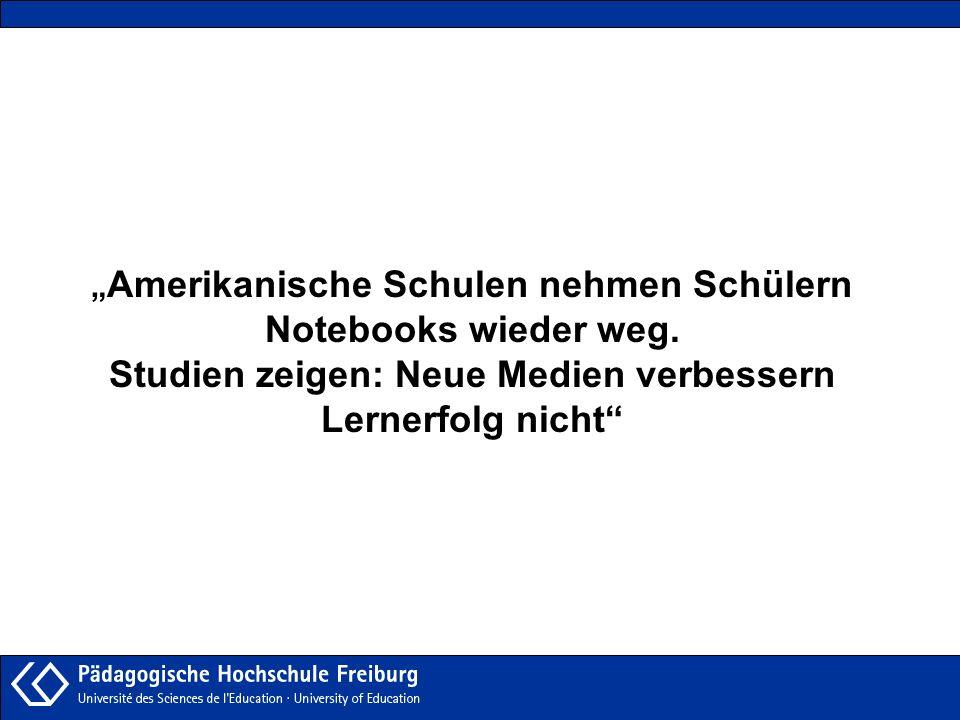 """Amerikanische Schulen nehmen Schülern Notebooks wieder weg"
