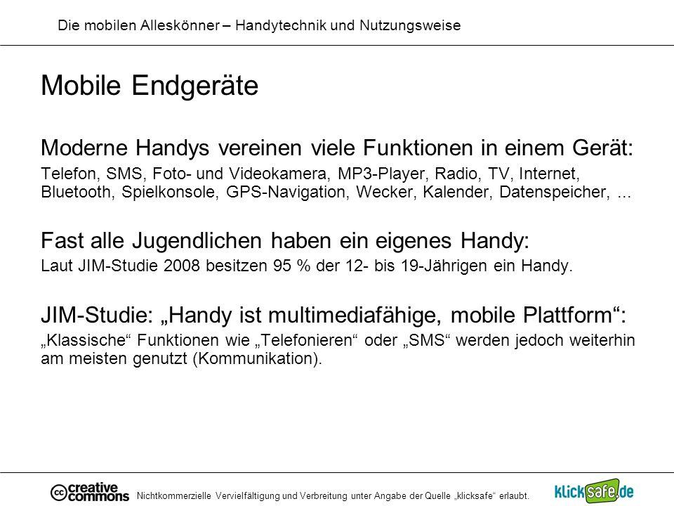 Die mobilen Alleskönner – Handytechnik und Nutzungsweise