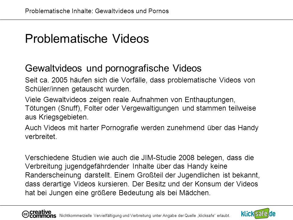 Problematische Inhalte: Gewaltvideos und Pornos