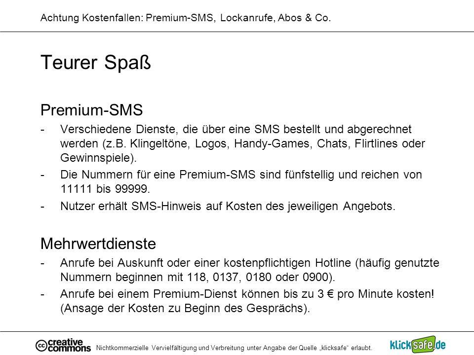 Achtung Kostenfallen: Premium-SMS, Lockanrufe, Abos & Co.