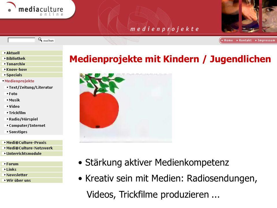 Medienprojekte mit Kindern / Jugendlichen