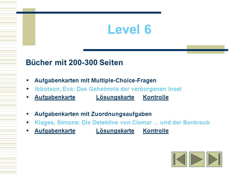 Level 6 Bücher mit 200-300 Seiten
