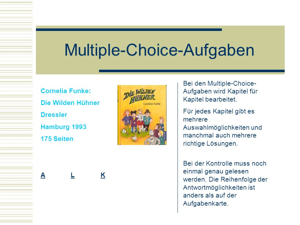Multiple-Choice-Aufgaben