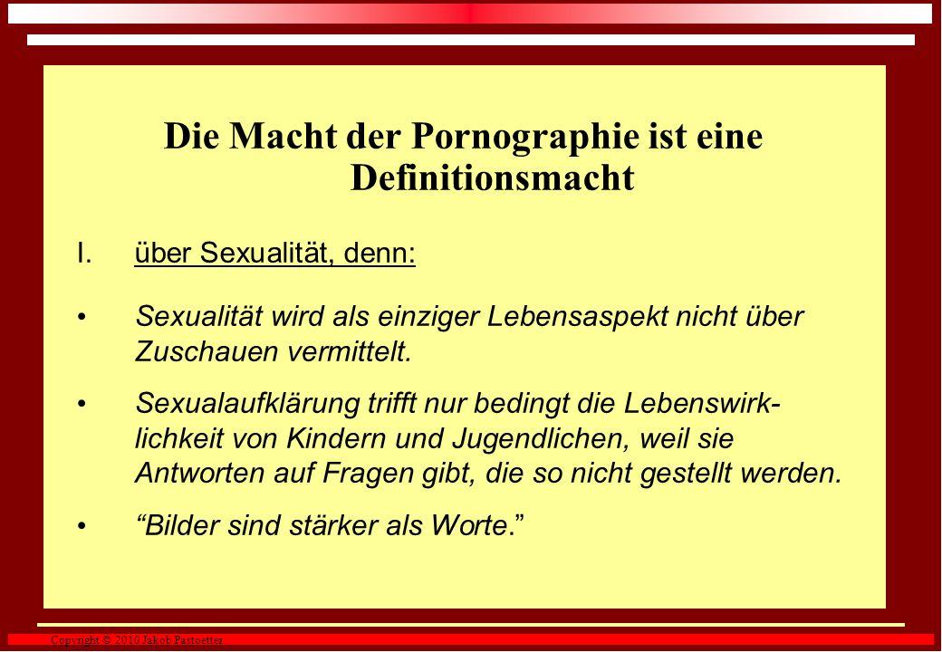 Die Macht der Pornographie ist eine Definitionsmacht