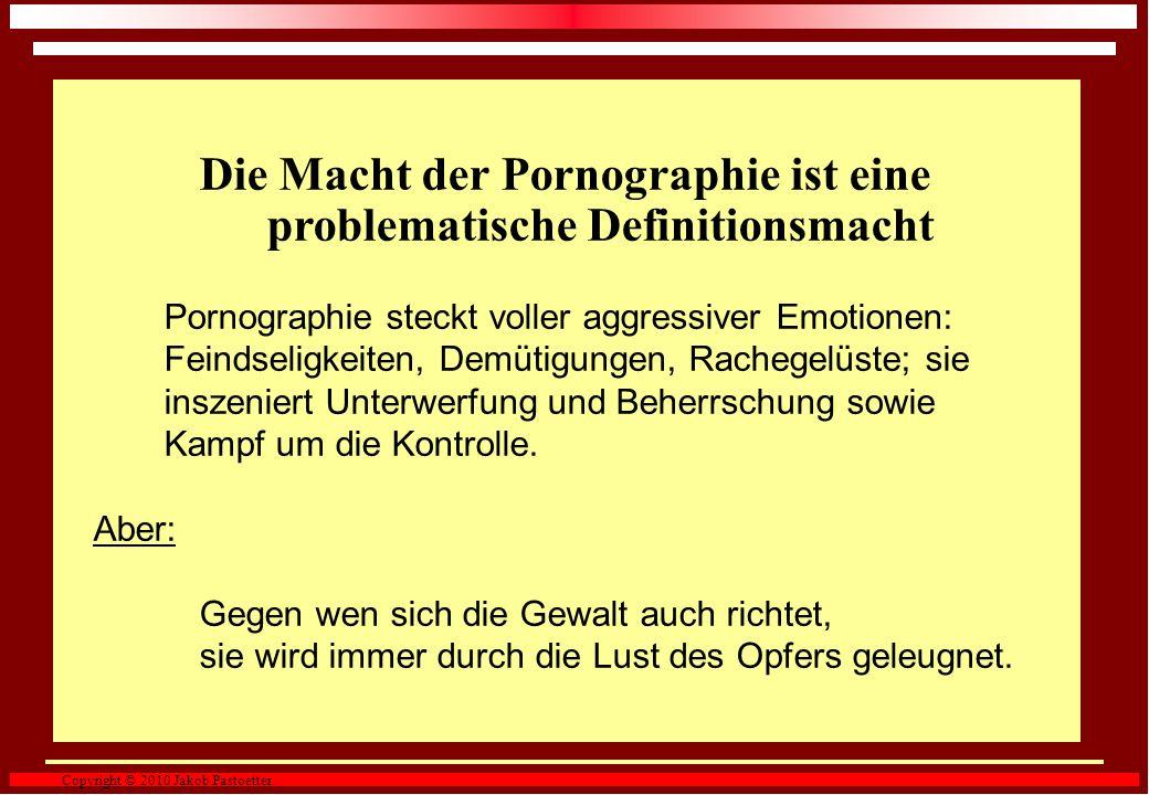 Die Macht der Pornographie ist eine problematische Definitionsmacht