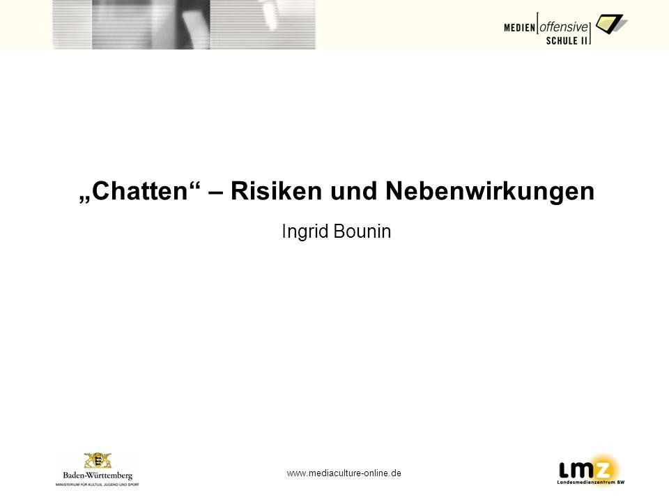 """""""Chatten – Risiken und Nebenwirkungen"""